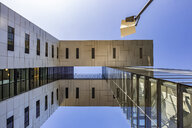 Germany, Cologne, part of facade of Crane House seen from below - JATF01120