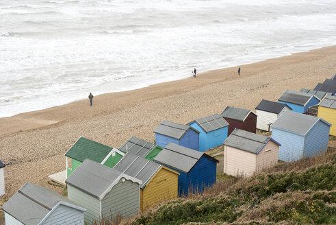 United Kingdom, Milford on Sea, beach in winter - IGGF00752
