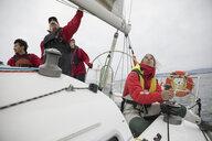 Sailing team training on sailboat - HEROF17127