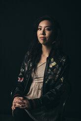 Renaissance portrait confident, strong, stylish female millennial - HEROF17286