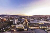 Germany, Stuttgart, shopping mile Koenigstrasse at sunset - WDF05077