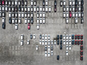 Indonesia, Bali, Aerial view of car park - KNTF02629