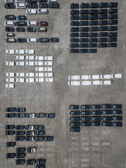 Indonesia, Bali, Aerial view of car park - KNTF02635
