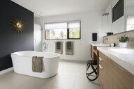 Home showcase modern bathroom with soaking tub - HEROF20521