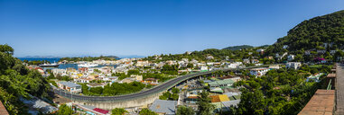 Italy, Campania, Ischia, Forio, Panoramic view to harbour - AMF06768