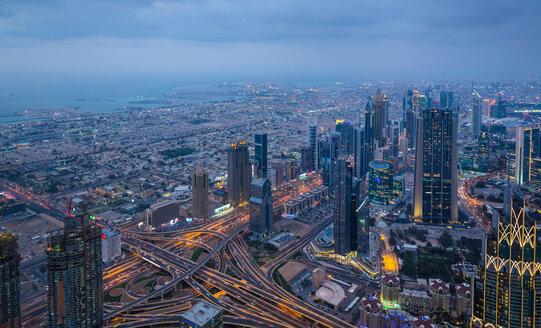 Skyscrapers along Sheikh Zayed Road, Dubai, UAE - CUF48608