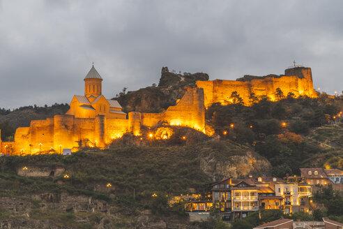 Georgien, Tiflis, Blick auf die Narikala Festung - KEBF01094