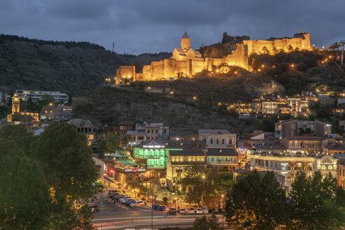 Georgien, Tiflis, Blick auf die Narikala Festung - KEBF01097