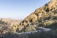 Georgia, Kakheti, David Gareja monastery complex, monk's cave dwellings - KEBF01139
