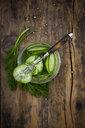 Swedish pressgurka, with dill and white pepper corns - LVF07765