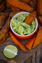 Sweet potato wedges with avocado dip - LVF07774