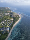 Indonesia, Bali, Aerial view of Hotel facility at Nusa Dua beach - KNTF02642