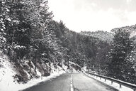 Andorra, mountain road in winter - ACPF00460
