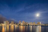 USA, Hawaii, Oahu, Honolulu and Ala Wai Boat Harbor at blue hour - FOF10315