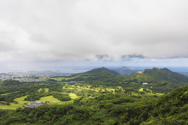 USA, Hawaii, Oahu, Kane'ohe, View from Nu'uanu Pali Lookout - FOF10344