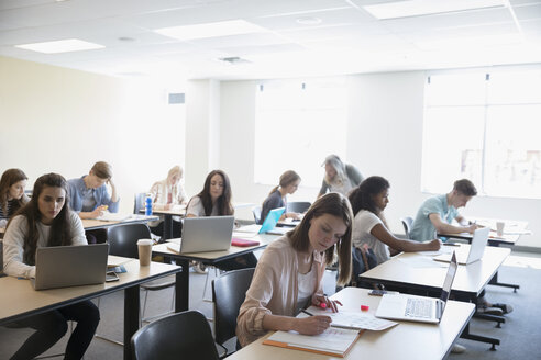Professor and students studying in classroom - HEROF22441