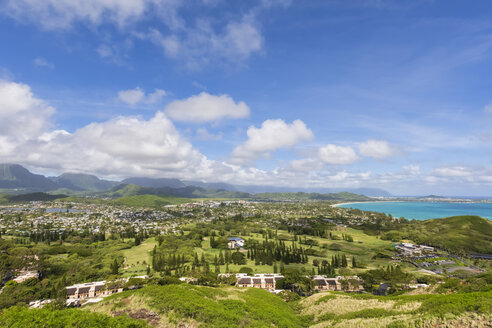 USA, Hawaii, Oahu, Kailua, View from Lanikai Pillbox Trail, Kaiwa Ridge Trail - FOF10381