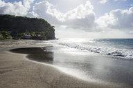 British Overseas Territory, Montserrat, Volcanic sand beach - RUNF01286