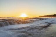 USA, Hawaii, Kauai, Eleele, Salt Pond Park at sunset - FOF10458