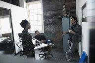 Creative business people meeting, talking in office - HEROF23966