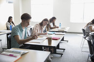 College students studying in classroom - HEROF24065