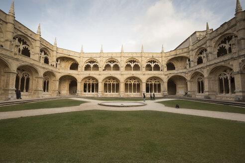 Portugal, Lisbon, Archways in Jeronimos Monastery - FC01693