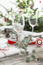 Laid table with Christmas decoration - LVF07808
