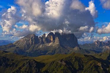 Italy, Veneto, Dolomites, Alta Via Bepi Zac, Marmolada at sunset - LOMF00810