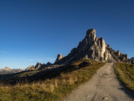 Italy, Veneto, Dolomites, Giau Pass, Gusela at sunrise - LOMF00828