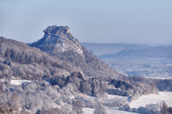 Germany, Baden-Wuerttemberg, Konstanz district, Hegau volcano Hohenkraehen in winter - ELF02011