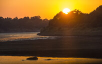 Zambia, South Luangwa National Park, Hippos at sunrise - RUNF01359