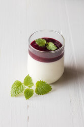 Panna cotta with berry sauce - EVGF03419