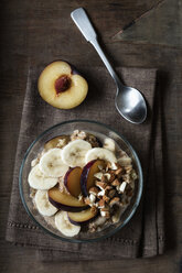 Cereals with banana and plum - EVGF03425