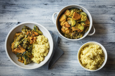 Millet with creamy vegetables, courgette, sweet potatoes and mushrooms - EVGF03428