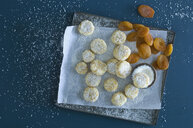 Christmas Cookies with apricots sprinkled with coconut flakes - ASF06306