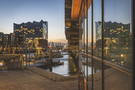 Germany, Hamburg, Hafencity, traditional ship harbor in the evening - KEBF01198
