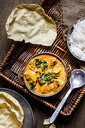 Indian Butter Chicken with Papadam and rice - SBDF03905