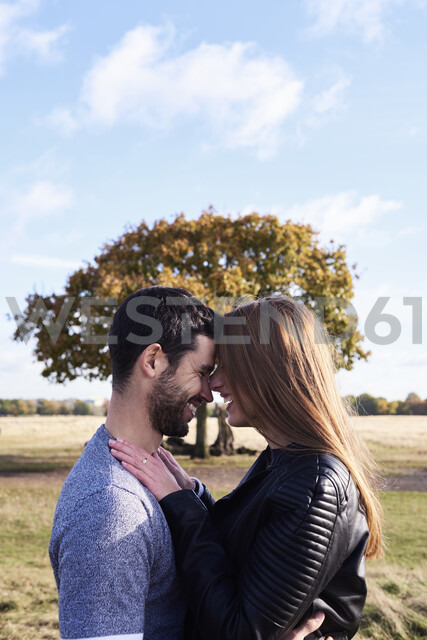 Happy affectionate couple in a park - IGGF00834