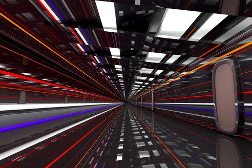 Futuristic hallway, 3D Rendering - SPCF00363