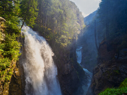 Italy, Trentino , Alto Adige, Aurina Valley, Campo Tures, Riva waterfalls in Summer - LOMF00844