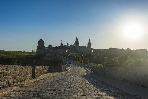 Kamianets-Podilskyi castle at sunset, Kamianets-Podilskyi, Ukraine - RUNF01406