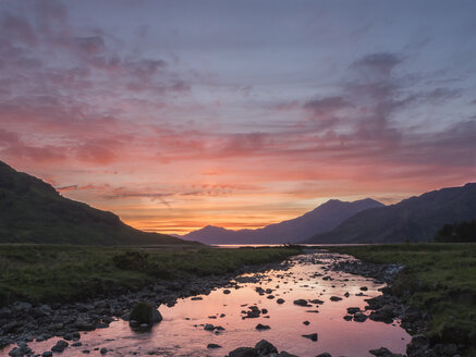 Knoydart Peninsula, near Barisdale at sunset - HUSF00025