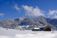 Germany, Bavaria, Upper Bavaria, Isar Valley, Lenggries, Geierstein mountain in winter - LBF02403