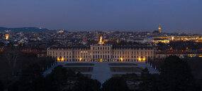 Austria, Vienna, Cityscape with Schoenbrunn Palace at night - ZEDF01958