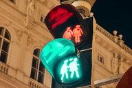 Austria, Vienna, Gay-themed traffic lights - ZEDF01961