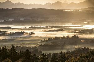Germany, Bavaria, Allgaeu, sunrise - DLF00044