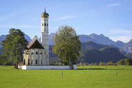 Germany, Bavaria, Allgaeu, Schwangau, St. Koloman church - DLF00056