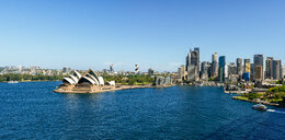 Australia, New South Wales, Sydney, Sydney landscape with The Opera and the financial district - KIJF02337