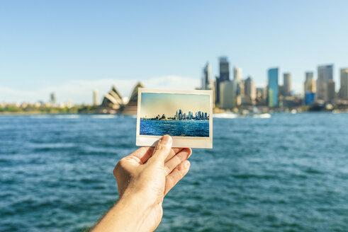 Australia, New South Wales, Sydney, close-up of Sydney landscape analog photography in front of Sydney - KIJF02343