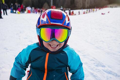 Italy, Trentino-Alto Adige, Kids Playing on Snow - MGIF00329